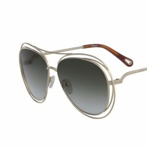 Chloe Carlina Aviator sunglasses ce134s Havana